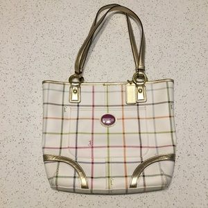 EUC Authentic Coach F19174 Heritage Tattersall Bag